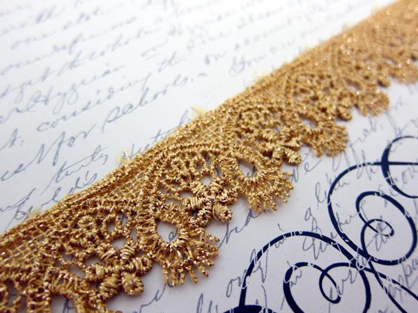Metallic Venice Lace - 1 1/8""
