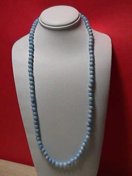 Vintage- Blue Variegated Bead Necklace