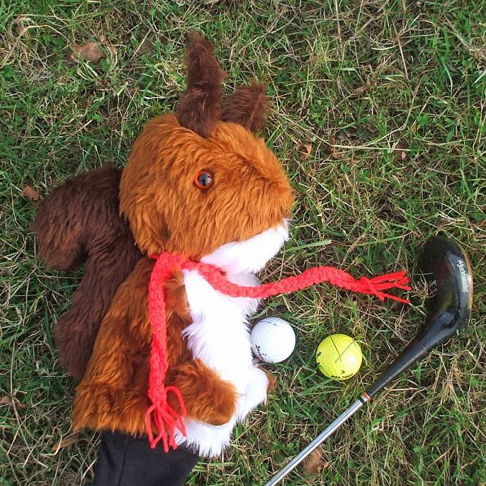 English Squirrel Golf cozy, golf cover