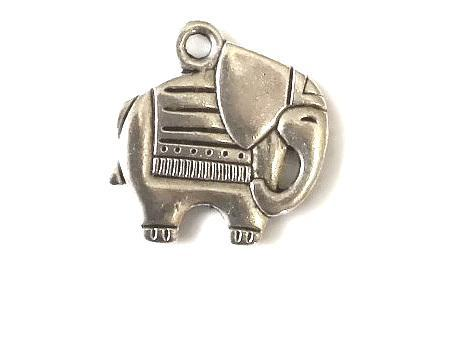 Friendly Circus Elephant Charm