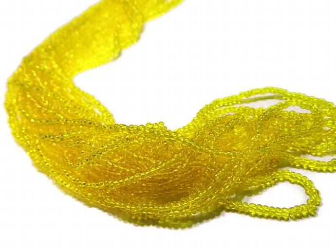 Yellow 11/0 Seed Bead Hank