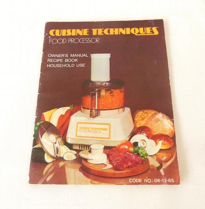 Cuisine techniques food processor by lauraslastditch on zibbet cuisine techniques food processor instruction manual recipe booklet owner kmart forumfinder Image collections