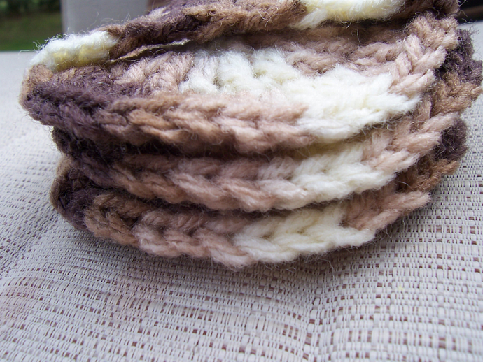 Shades of Brown - 3 scrubbies