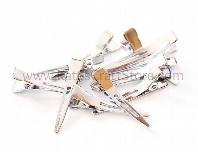"50 Mini Single Prong Alligator Clips, 1 3/8"" - Zibbet"