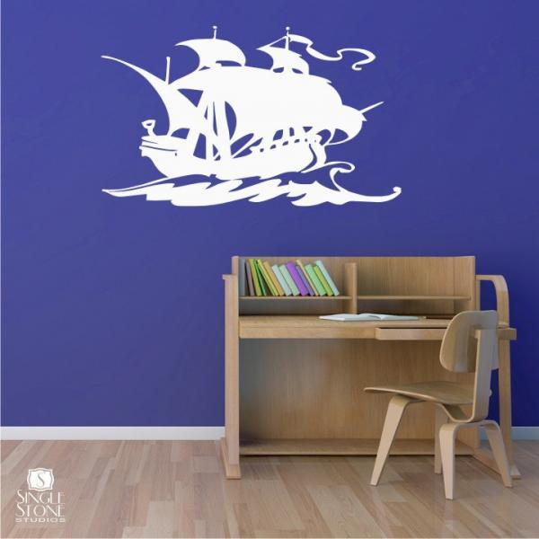Pirate Ship Decal - Vinyl Sticker Wall Art