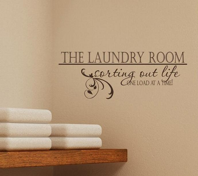 Laundry Room Wall Decal Sorting Out Life - Vinyl Wall Words Stickers Art