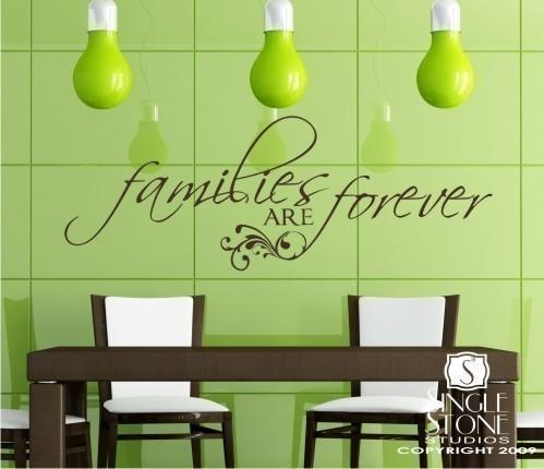 Wall Decal Quote Families are Forever - Vinyl Text Stickers Art Graphics