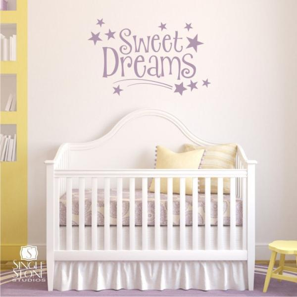 Sweet Dreams Wall Decal Quote - Vinyl Word Art
