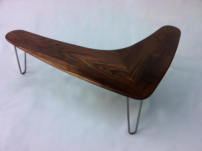 Mid Century Modern Walnut Boomerang Coffee By Studio On Zibbet - Mid century modern boomerang coffee table