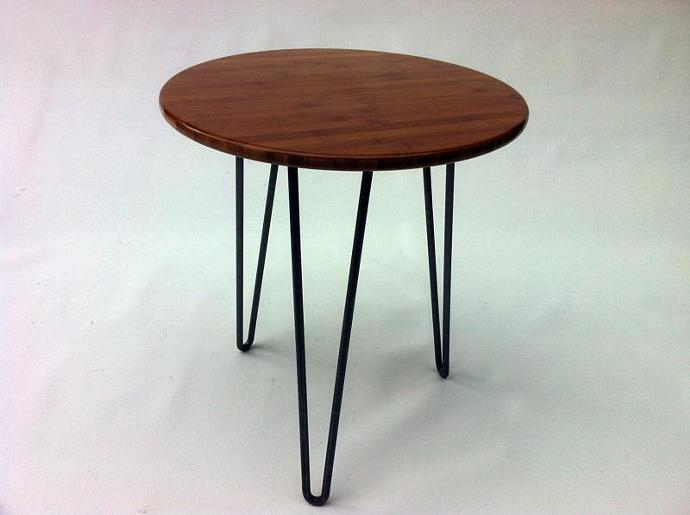 Round Mid Century Modern Side Table By Studio On