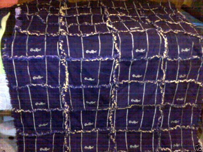 Crown Royal Rag Quilt 60x80 Handmade By Bitspeaces On Zibbet