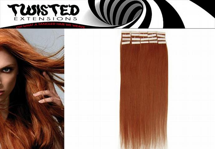 """24"""" Tape In Human Hair Extensions - Highest Quality Virgin Remy  - Your Choice"""