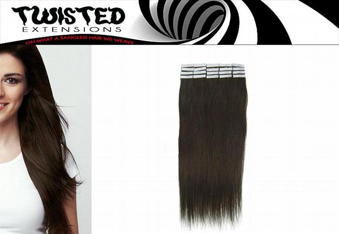"22"" Tape In Human Hair Extensions - Highest Quality Virgin Remy  - Your Choice"
