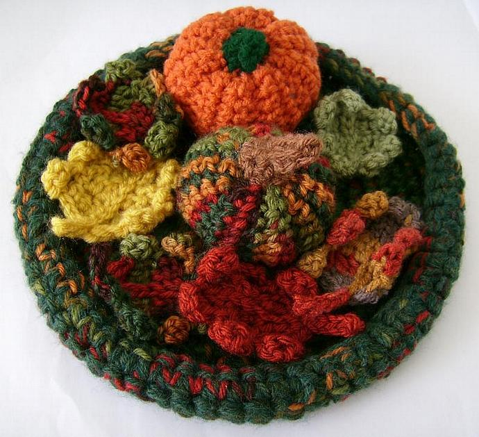 Crochet Fall Leaves for Autumn Home Decor