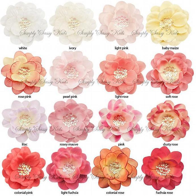 12 x 3.5 inch Sequin Center Silk Flowers