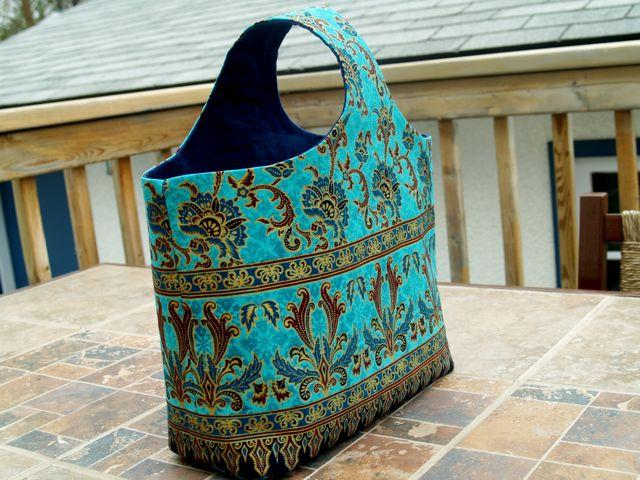 Indian Inspired Handmade Tote Handbag