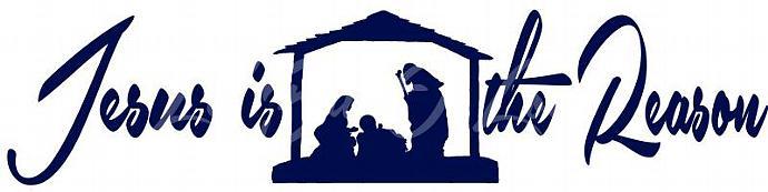 Jesus is the Reason Nativity Vinyl Decal sticker auto window Christian