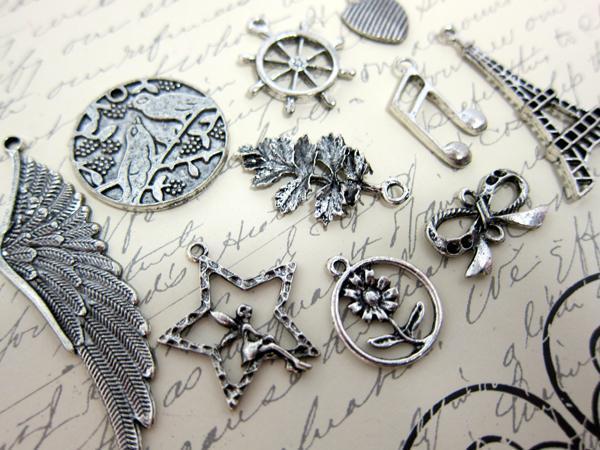 Silver Travel Metal Charms 20pcs  Paris Paris Charm Set - Silver