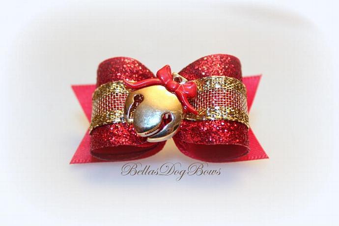 Jingle Bell Christmas Bow