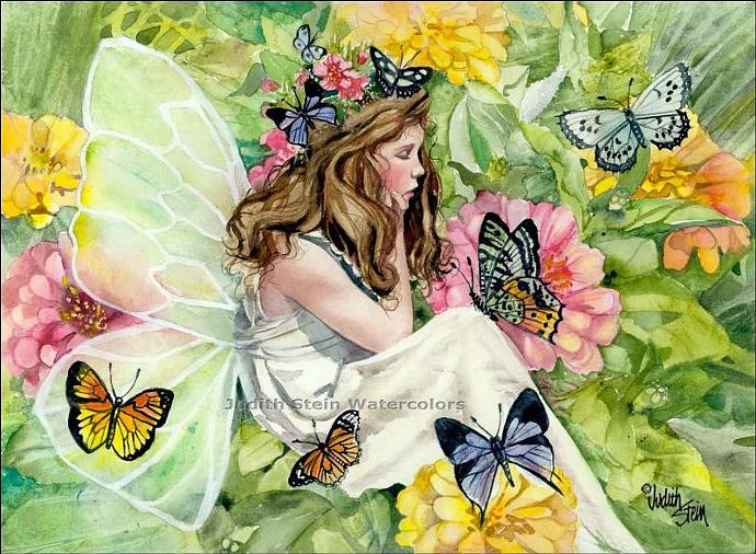 FAIRY PRINCESS Fantasy 15x11 Giclee Watercolor Art Print
