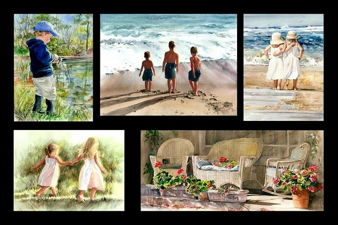 """CUSTOM UPGRADE to 11 x 15"""" Giclee Watercolor Print from any 8 x 10"""""""