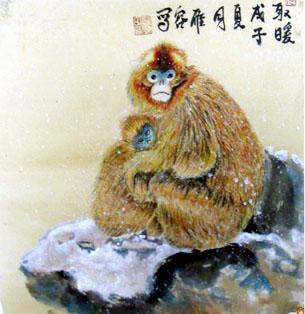chinese painting-monkey