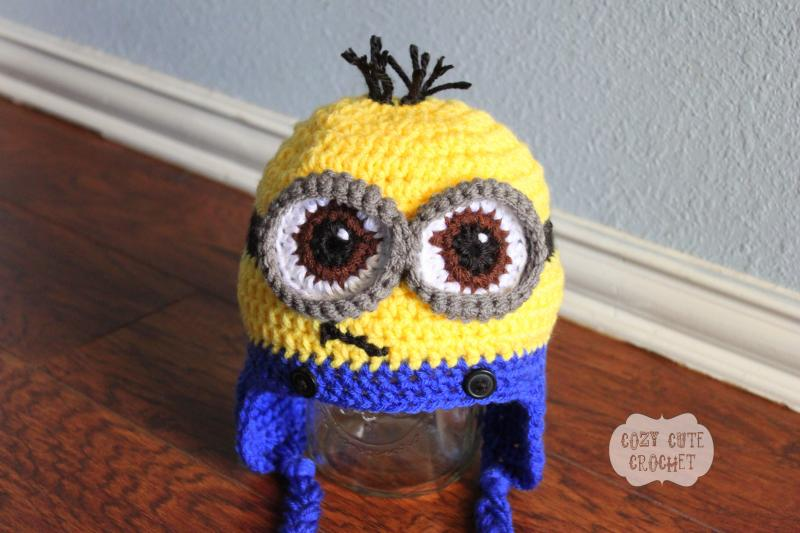 Minion Hat Despicable Me Minion Crochet By Cozycutecrochet On Zibbet