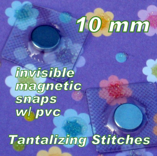 15 Sets 10mm Hidden Magnetic Snaps with PVC
