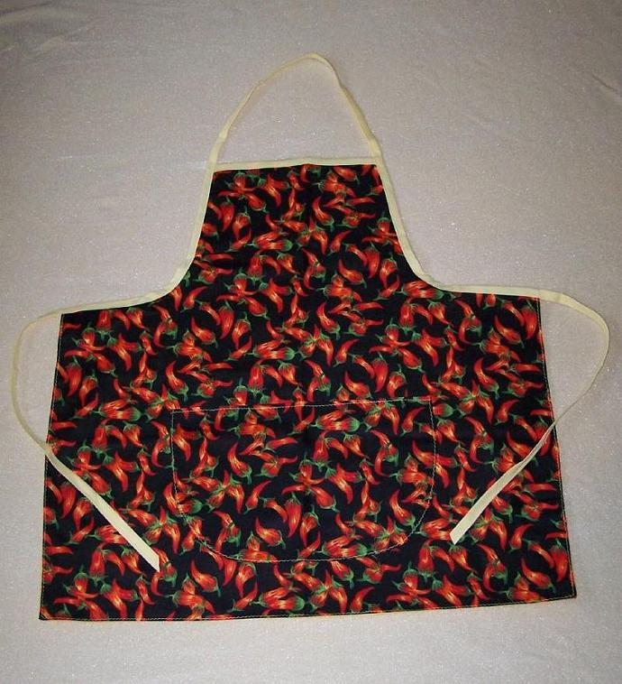 Chili Pepper Apron, full apron, chili peppers, gift for cooks, gift for women,