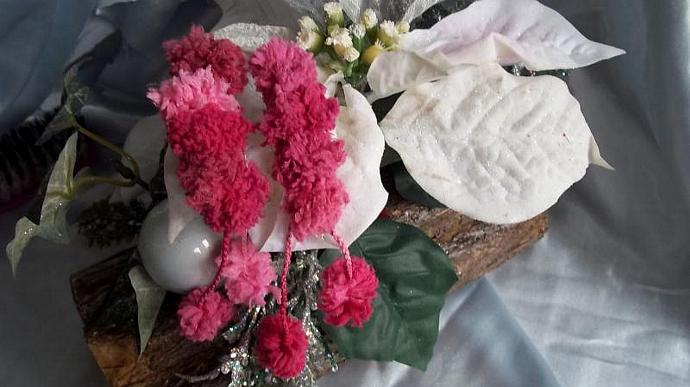 Barrettes (Pom Pom Petunias in Hues Of Pink))