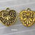 20 pcs of Antique Gold Finish Heart Charm/Pendant