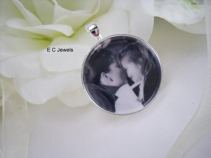 Round Double Sided Custom Photo Bouquet Charm