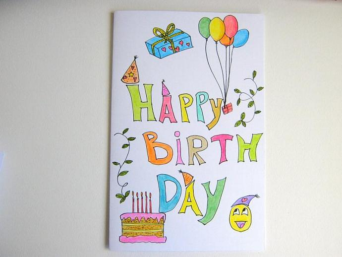 Happy Birthday Handmade Gift Card For Kids Exiarts