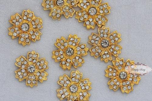RD172 20pcs  Rhinestone Flatback Metal Glass Crystal Embellishments wedding