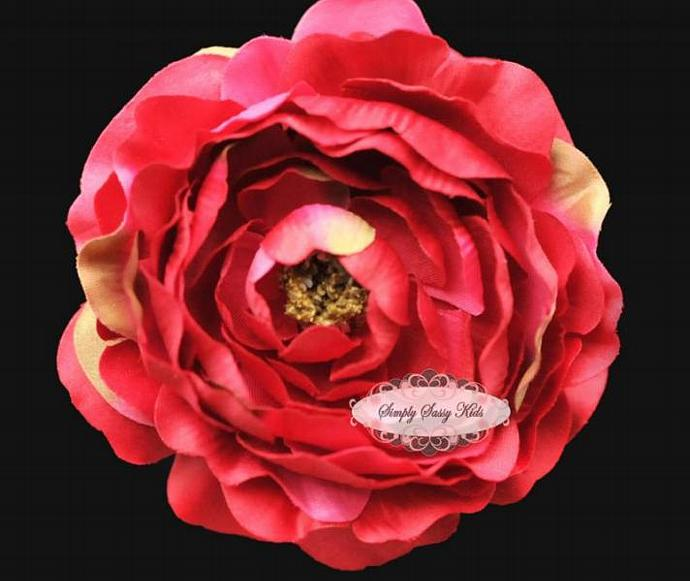 HOT PINK 4 inch Ruffle Ranunculus Gorgeous Artificial Silk Flower with Ruffled