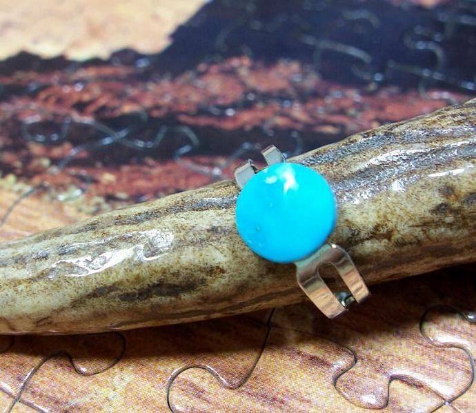 Natural Kingman Turquoise Adjustable Ring