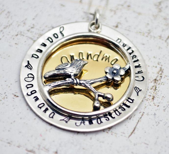 Grandma Necklace, Family Necklace Grandma, Nana Gifts, Gift for Grandma Nana,