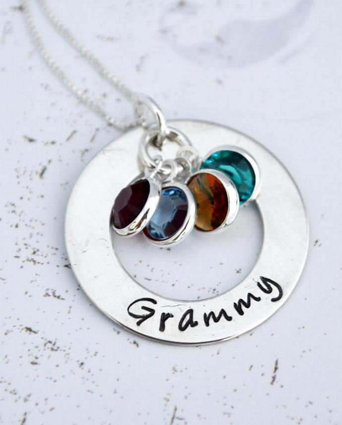 personalized grandma necklace hand by loveitpersonalized on zibbet
