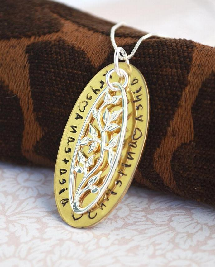 Christmas Gift for Grandma, Tree of Life Personalized Necklace, Gift, Mother,