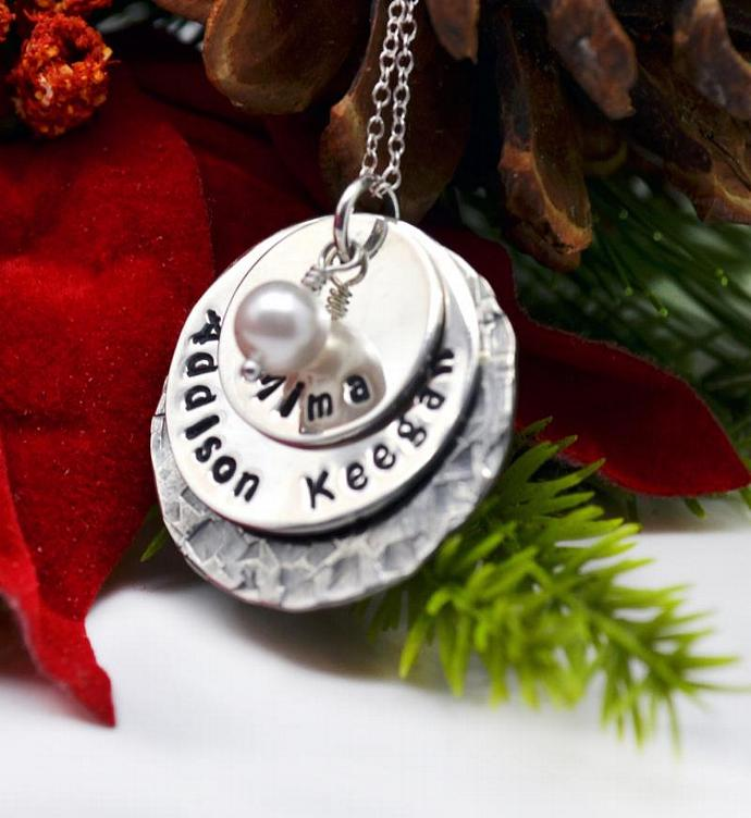 Personalized mommy necklace christmas by loveitpersonalized on zibbet personalized mommy necklace christmas gift hand stamped jewelry gift for mom aloadofball Gallery