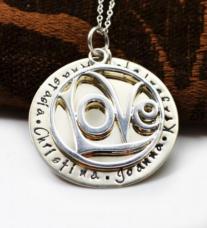 Mommy Jewelry, Personalized Love, Necklace, Mothers Necklace, Family Necklace,