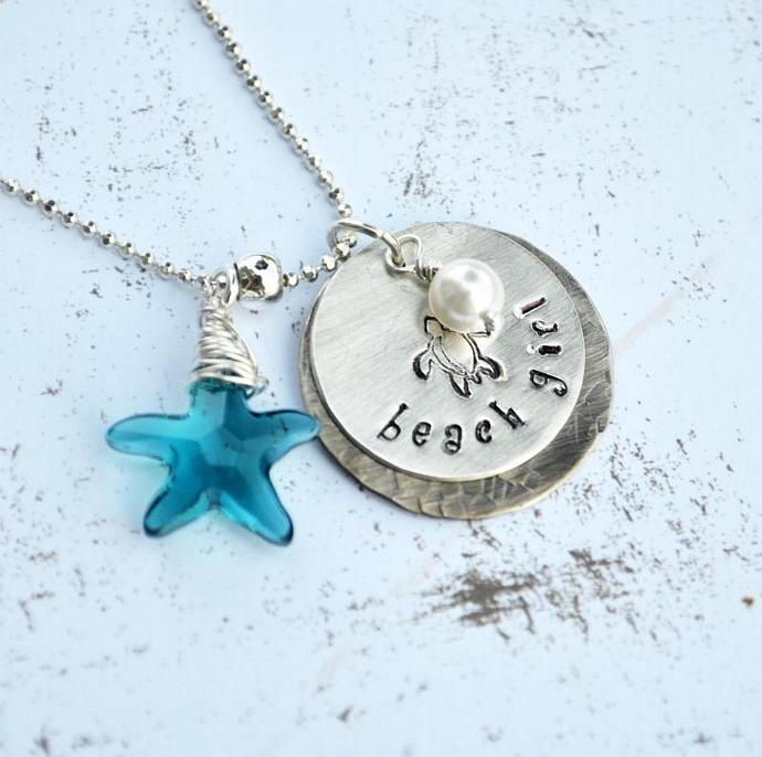 Beach Girl Personalized Hand Stamped By Loveitpersonalized On Zibbet