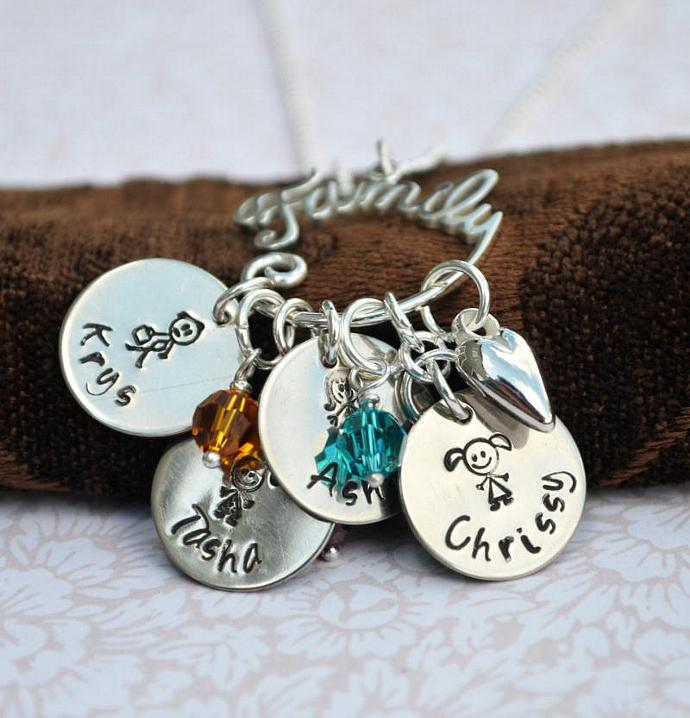 personalized family charm holder by loveitpersonalized on zibbet