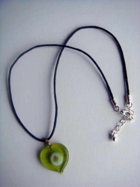 Green Eyed Satin Cord Necklace