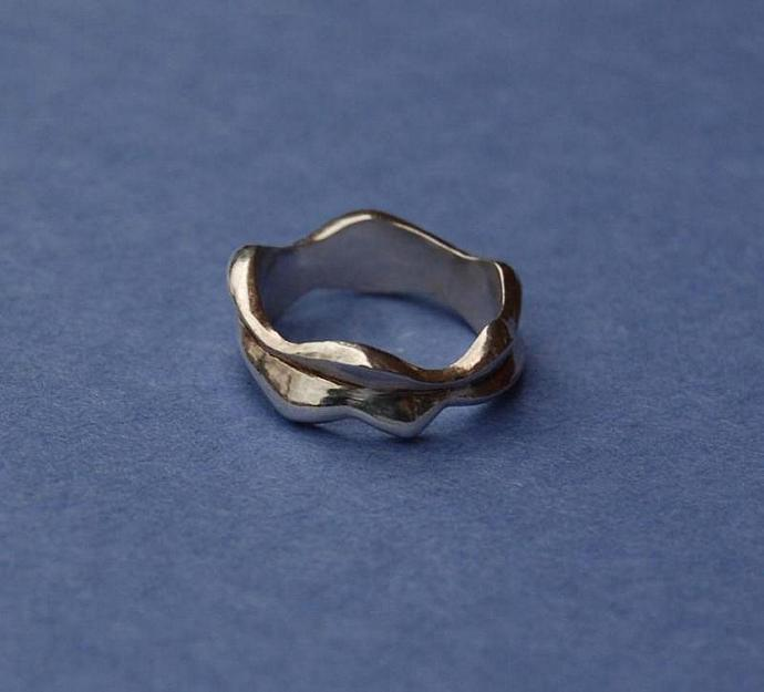 Two Waves Sterling Silver ring