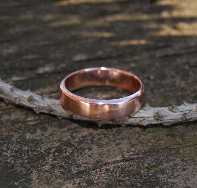 Rose Gold Thick Wedding Band