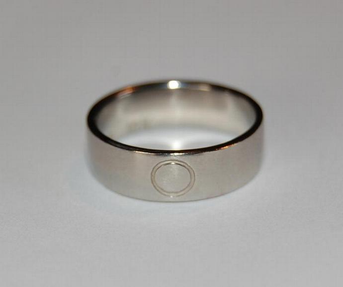 White Gold Eternity Band 6mm Wide Wedding Commitment Band