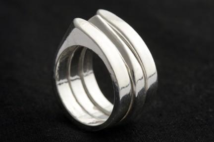 Hammered Stackable Point Ring