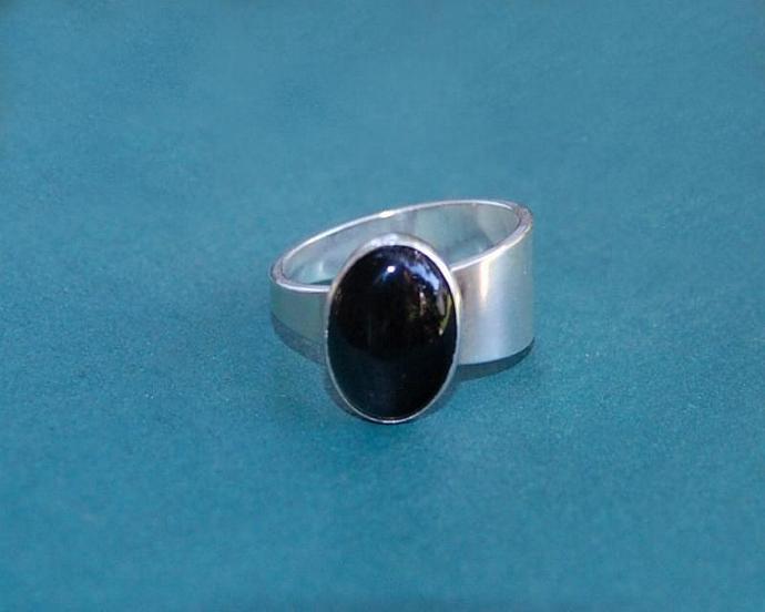 Black Onyx Taper Ring