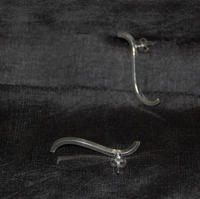 Sterling Silver Slivers Post Earrings